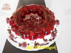Joghurtos gyümölcstorta ( málnával és meggyel )
