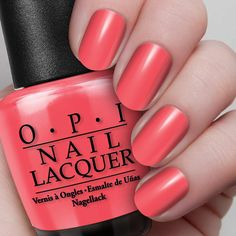 Red Lights Ahead...Where?  NL H61 / Classics This coral-packed red is the hottest in the district.  Read more at http://opi.com/color/nail-lacquer/red-lights-aheadwhere#ZGwwPVZOp8KHzuyo.99