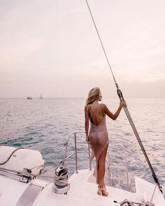 Sheer Swimsuit Cover Up-women beach bikini dress-The Exceptional Store Sheer Swimsuit, Bikini Dress, Swimsuit Cover Ups, Sailing Magazine, Boat Girl, Holiday Photography, Foto Pose, Am Meer, Nautical Fashion