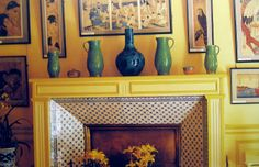identical eye: Monet's House in Giverny  fireplace tile
