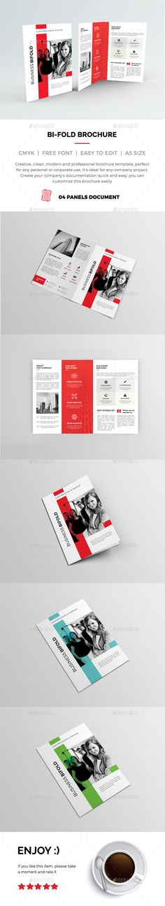 Bi-Fold Brochure 01This Photoshop Brochure Template is Clean & Professional. Create your companys documentation quick and easy. Th