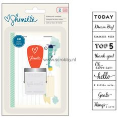 Shimelle Starshine Stamp Phrase With Notepad