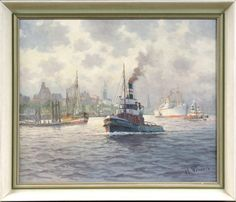 Hans Porwoll (1898 in Hamburg – 1984 ebda.), Öl auf Leinwand