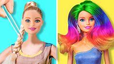 Mattel Barbie, Barbie Girl, Barbie Dolls Diy, Diy Barbie Clothes, Barbie Doll House, Diy Doll, Ag Doll Crafts, Diy Barbie Furniture, Diy Crafts For Girls
