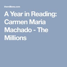 A Year in Reading: C
