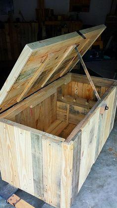 DIY Pallet Storage #Trunk - Kid's Toy #Chest | 99 Pallets