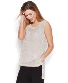 Eileen Fisher Sleeveless Hi-Low Knit Top