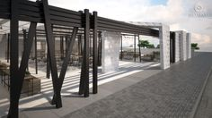 SHOP FACADE - ΠΡΟΣΟΨΗ ΚΑΤΑΣΤΗΜΑΤΟΣ  Recovery Building System made of perforated aluminium. Innovative Architectural Products. Life is in the details. www.metalaxi.com