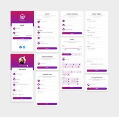 Mobile App Form Designs on Behance Iphone App Design, Android App Design, Android Ui, App Ui Design, Interface Design, Form Design, Layout Design, Design Design, Graphic Design