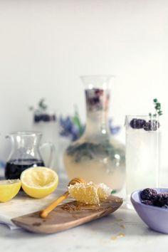 Honey Thyme & Blackberry Lemonade: http://www.stylemepretty.com/living/2015/05/12/18-essential-entertaining-pitcher-drinks/