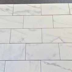 "Discount Glass Tile Store - Classic Marble - Carrara 3"" x 6"" Subway Tile Matte Finish High Definition Porcelain $3.59 Per Square Foot, $3.59 (http://www.discountglasstilestore.com/classic-marble-carrara-3-x-6-subway-tile-matte-finish-high-definition-porcelain-3-59-per-square-foot/)"