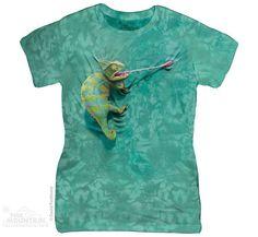 CLIMBING CHAMELEON Womens T-Shirt Funny Lizard Mountain Tee Top S-2XL NEW! #chameleon #chameleons #lizard