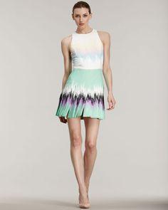 Versus, Stitched-Down-Pleat Dress   $1195