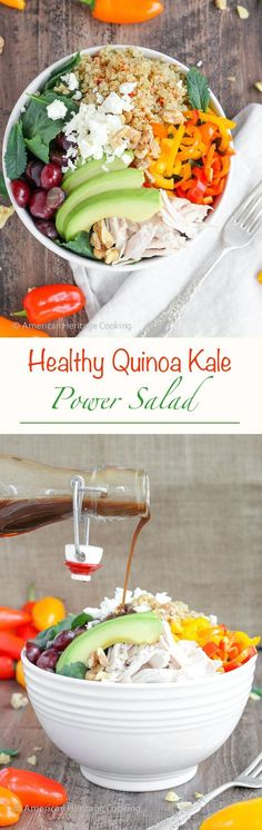 Healthy Recipes : This Quinoa Kale Power Bowl is packed with vitamins minerals healthy fats and