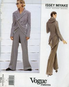 Vogue 1736  Issey Miyake Jacket and Pants
