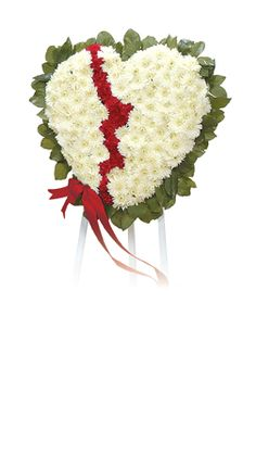 Broken Heart Funeral Flowers By Lorraine