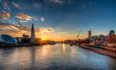 United Kingdom London thames river Cities