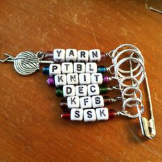 Made my own knitting stitch markers today!!!!