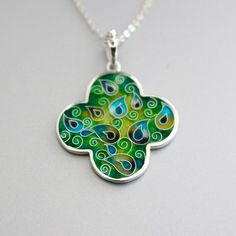 Cruz cloisonne enamel pendant by agoraart <3 (I'm not surprised that this one sold before I even noticed it)