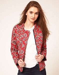 red, paisley, quilted