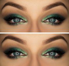 Makeup Geek Eyeshadows in Appletini, Beaches and Cream, Envy, Latte, Peach Smoothie and Sea Mist. Look by: Magdalena Mizura