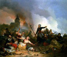 Dutch civilians defending a town against Habsburg siege