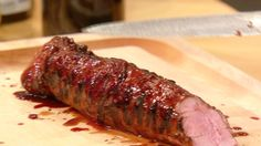 Guy Fieri shows Rachael Ray how to make his recipe for Blackberry Jalapeño-Glazed Pork Tenderloin. Chef Recipes, Pork Recipes, Food Network Recipes, Cooking Recipes, Cooking Games, Wing Recipes, Sausage Recipes, Cooking Classes, Yummy Recipes