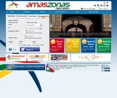 La empresa de transportes áereos AMASZONAS confía nuevamente en nosotros para rediseñar su sitio Web y de esta manera presentar una imagen fresca a su distinguida clientela.