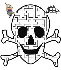 Pirate+Ship+Coloring+Pages+Printable | ... Maze: Help the pirate swing through the maze to find the pirate ship