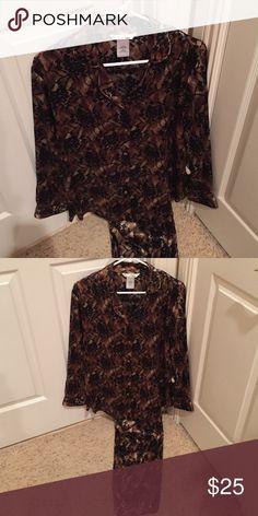 Medium pjs. Matching set Black, bronze, silver lace pattern pjs. Size medium. secret treasures Intimates & Sleepwear Pajamas