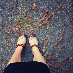 """""""Wednesday Morning"""" by Liz Rusby, via Flickr. I could love these shoes more, but I think not. I also love the fall feeling this photo evokes."""