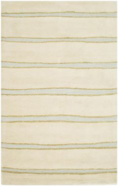 The modern aestheic of the Chalk Stripe Buckwheat Flour Beige rugs from Martha Stewart designs for Safavieh transitional rugs is stylish and adds simple yet lively character to any home. Martha Stewart's chalk stripe design is crafted from premium hand tufted wool. Martha Stewart is an iconic American designer, with a stylish eye for home design. http://www.cyrusrugs.com/safavieh-rugs-martha-stewart-item-13053&category_id=0