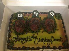 1/4 Grave yard drawing cake