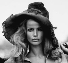 one of the original supermodels and super muses, Veruschka in an Yves Saint Laurent Safari jacket