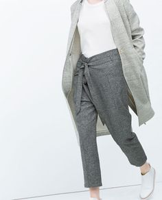 LOW WAIST TROUSERS-Trousers-WOMAN | ZARA United States