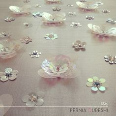 D E T A I L S ! Floral embellishment from our Spring/Summer'15 collection #PerniasPopUpShop #perniaqureshilabel #perniaqureshi #details #bestylish #bespoke