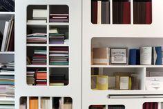 Amenagement de l'imprimerie Clochette Argentée. Paris, 5ème. Zoomfactor Architectes. Mobilier sur mesure