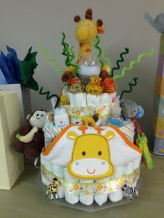Diaper cake for a friend... My first one!