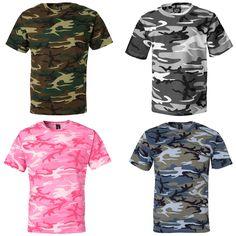 Code V Mens Woodland Camo T Shirt s 2XL Camouflage Tee 3906 New   eBay