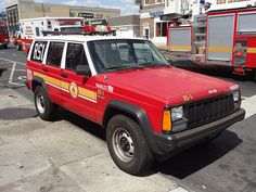 Jeep Cherokee Fire Department Truck
