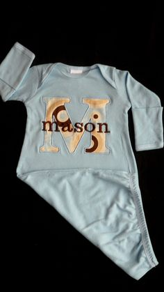 Boy Going Home Clothing | Boy Infant Gown Monogram Layette Baby Boy Clothes Newborn Take Me Home ...