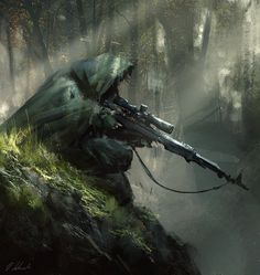 Sniper ambush by daRoz | NOT OUR ART - Please click artwork for source | WRITING INSPIRATION for Dungeons and Dragons DND Pathfinder PFRPG Warhammer 40k Star Wars Shadowrun Call of Cthulhu and other d20 roleplaying fantasy science fiction scifi horror location equipment monster character game design | Create your own RPG Books w/ www.rpgbard.com