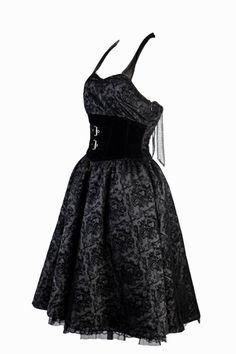 Robe Gothique Romantique Lolita Floqué - PentagrammeShop