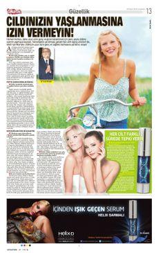 Cildinizin yaşlanmasına izin vermeyin! - Helix-D Sabah Gazetesi'nde...