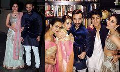 Kareena Kapoor wore a Manish Malhotra lehenga to her sister-in-law Soha Ali Khan's wedding reception. Malaika Arora Khan wore a Preeti S anarkali, while Amrita Arora wore a Shantanu Nikhil custom lehenga.