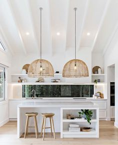 "Sunshine Parade Reno on Instagram: ""Pendant lighting ✨ 📸 @the.palm.co . Could this kitchen by @benrichardsonbuilding @the_stables_ be any more drool 🤤 worthy! The scale of…"""