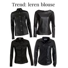 Leren blouse