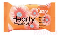 Padico Orange Hearty clay super lightweight from Japan (50g) - Figurines / Doll / Flower / Miniature Food 303155