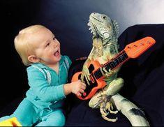 Lounge Lizards: Calif. Man Puts Pet Lizards in Human Poses