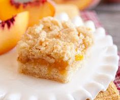 These outstanding 5 Star Peach Crumb Bars are the ultimate dessert because they combine cobbler, sugar cookies and crumb cake into one delicious treat!  Make this dessert bar recipe this spring and summer for the perfect warm weather treat!